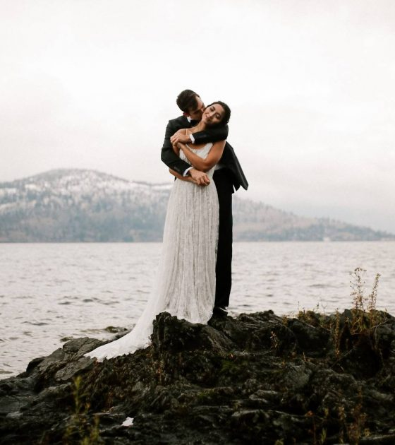 Chilly Fall Kelowna Elopement