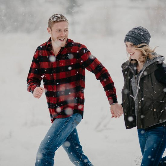 Snowy Red Rocks Engagement