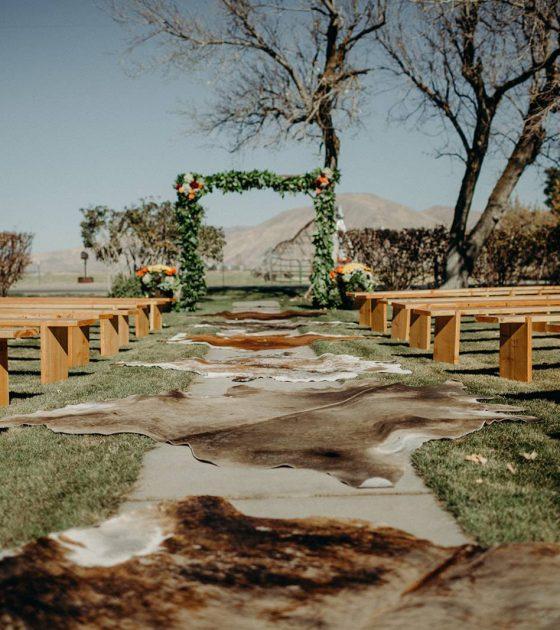 Western Idaho October Barn Wedding