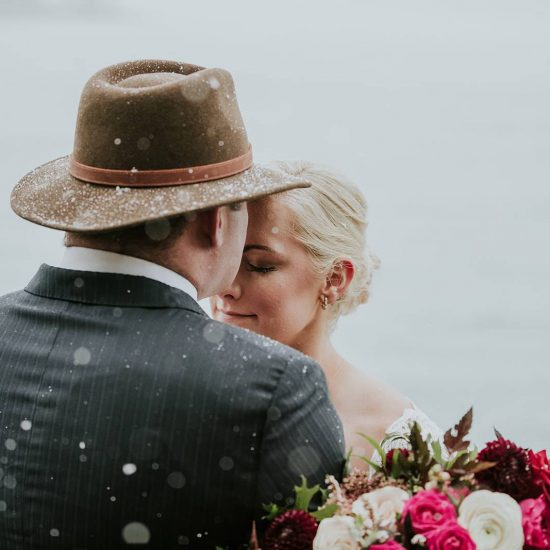 Snowy Lake Minnewanka Wedding