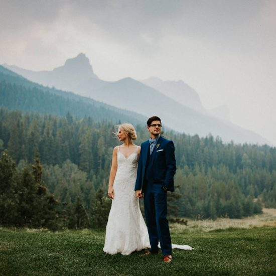 Hazy Canmore Wedding Day