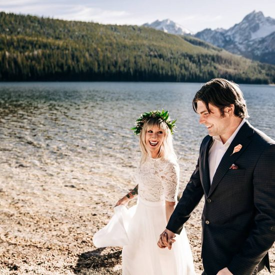 Golden Hour Sawtooth Elopement | Stanley Idaho