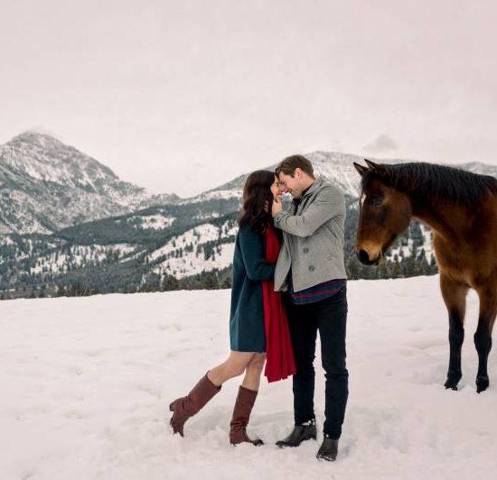 Snowy Bozeman Engagement