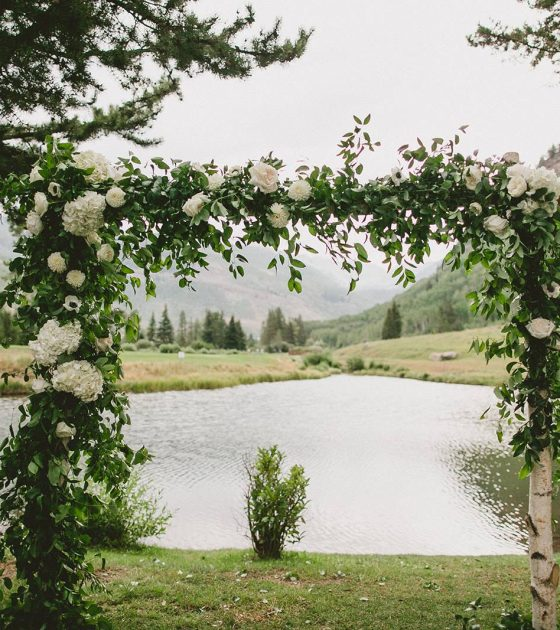 Summer Wedding at Vail Wedding Island