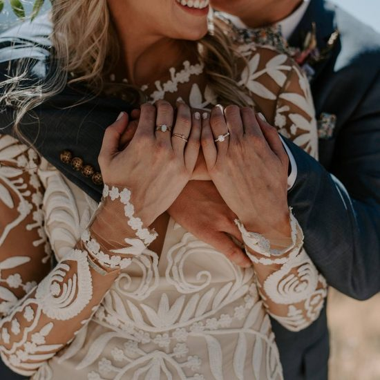 Bohemian Mountaintop Wedding Ceremony in Vail
