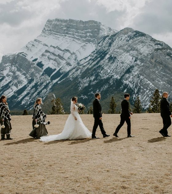 Sweet and Intimate Banff Wedding