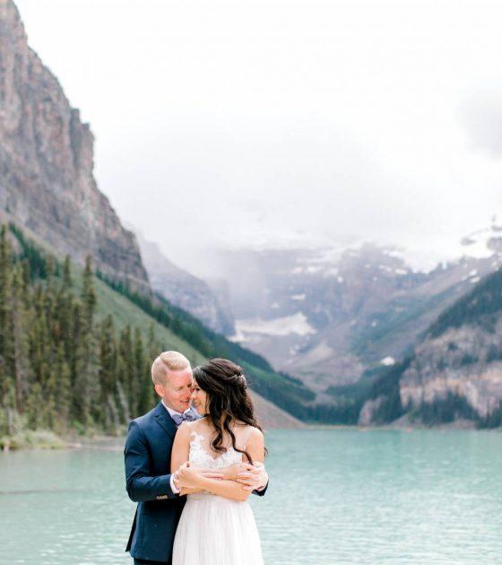 Mountain-Vineyard Inspired Wedding at Lake Louise