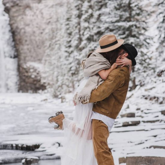 Frozen Ram Falls Elopement Inspiration