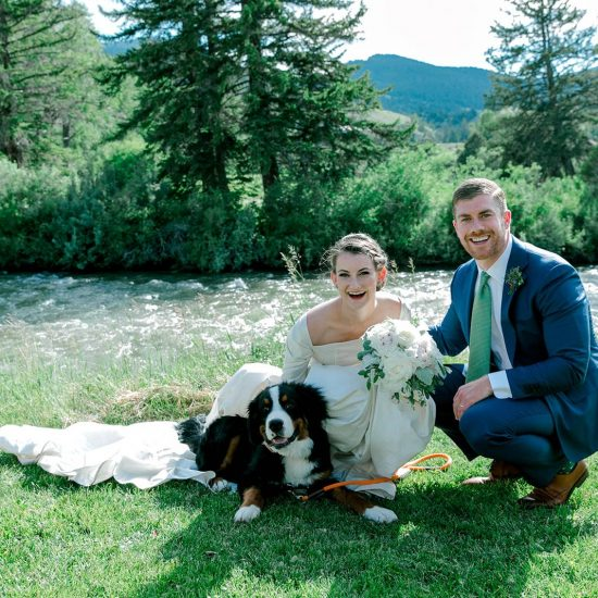 Family Ranch Wedding in Wyoming