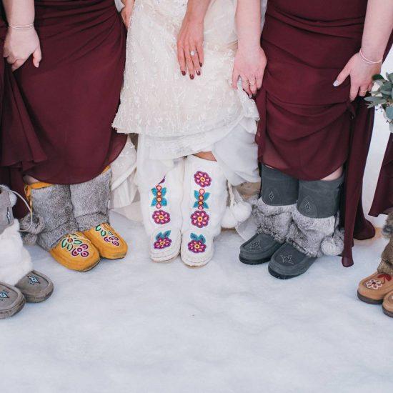 Snowy Silvertip Resort Wedding