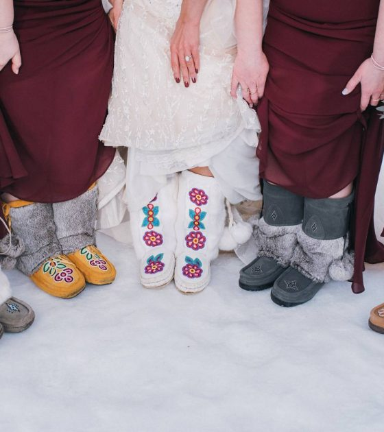 Snowy Silvertip Resort Wedding