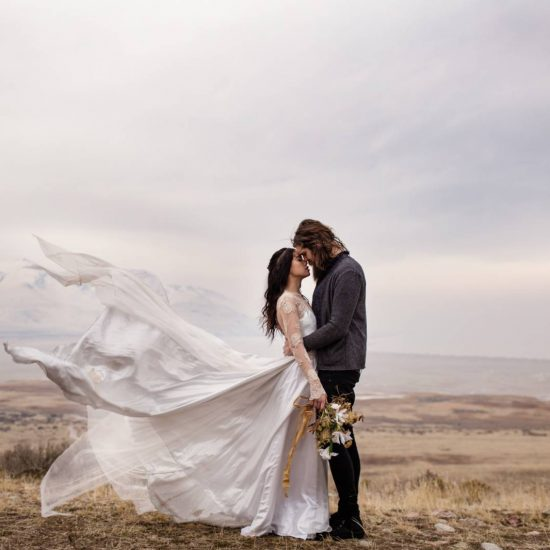 Antelope Island Elopement Inspiration | Utah Elopement