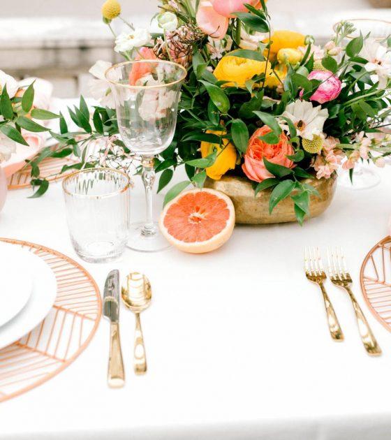 Citrus Wedding Inspiration at the Grant Humphreys Mansion