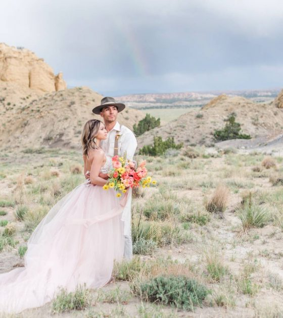 Trendy and Timeless White Mesa Adventure Session