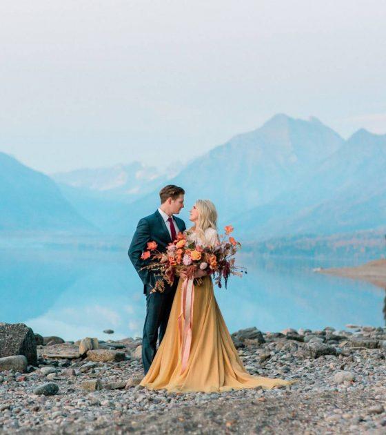 Autumn Glacier National Park Wedding Inspiration