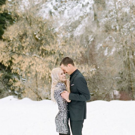 Magical Winter Engagement at Big Cottonwood Canyon
