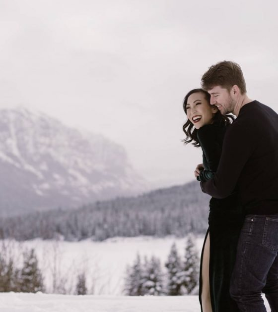 Chilly Winter Engagements in Bozeman