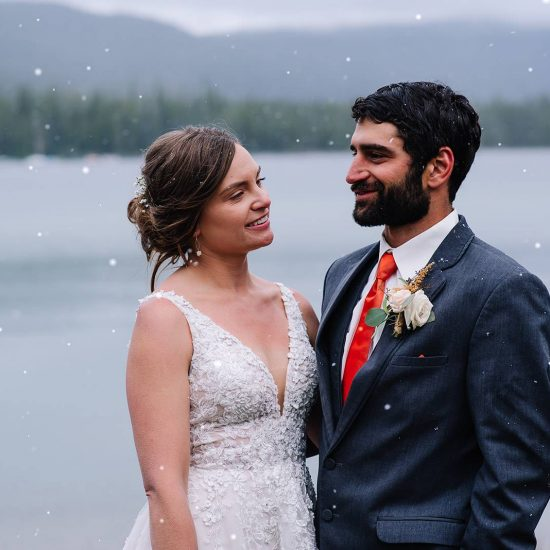 Snowy Salmon River Wedding Day