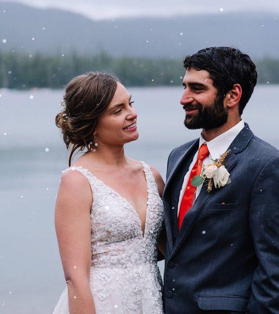 Snowy Salmon River Wedding Day