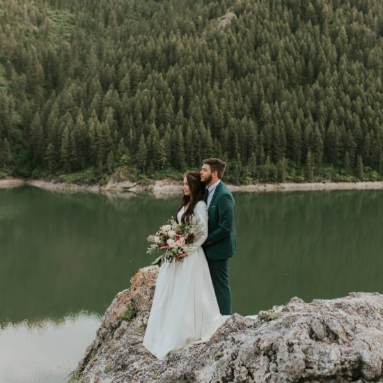 Palisades Reservoir Elopement Inspiration | Idaho Styled Shoot