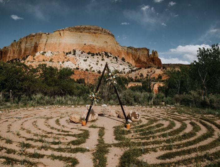 Mystical Wedding Ceremony at The Labyrinth at Ghost Ranch