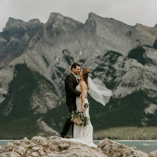 A Tunnel Mountain Wedding Ceremony
