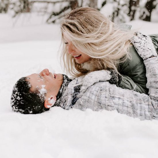 Seeing Snow for the First Time | Colorado Rockies Engagements