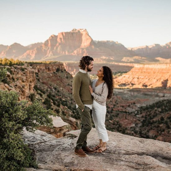 Adventure Engagement Session in Zion National Park