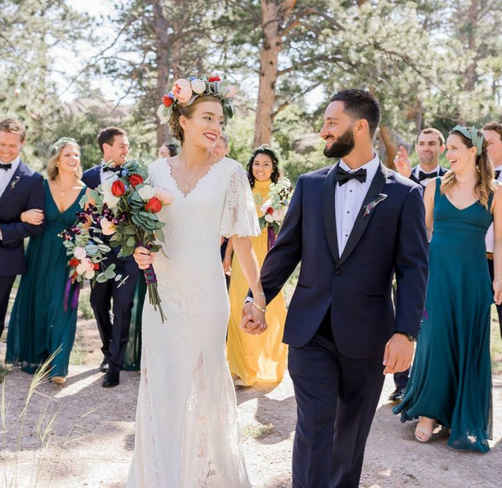 Bohemian Inspired Wyoming Wedding Ceremony