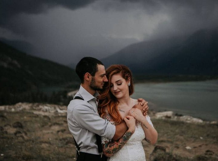Rainy Day Elopement on Pyramid Island