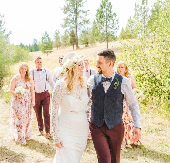 Bright and Beautiful Bohemian Wedding at Whispering Pines