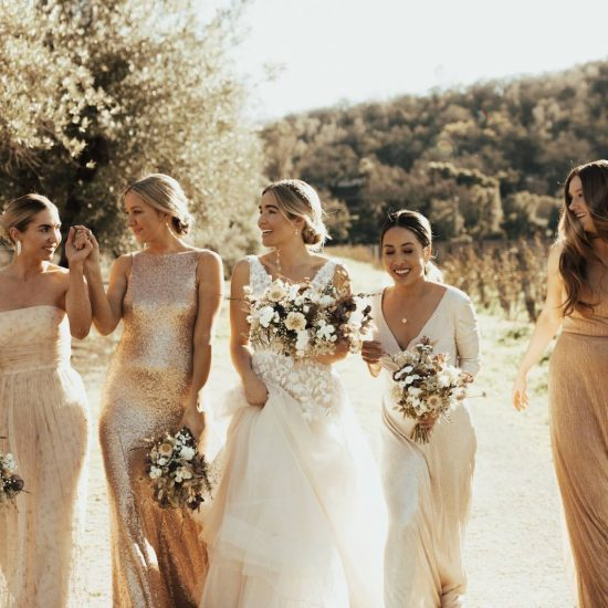 Pulling Off Mismatched Bridesmaids Dresses