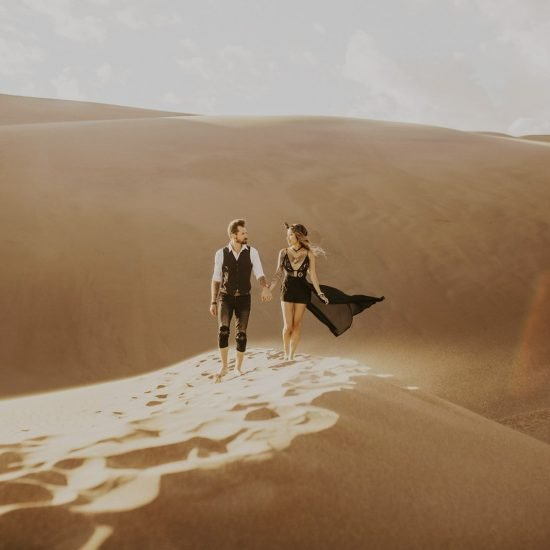 Boho Sand Dunes Couples Portraits