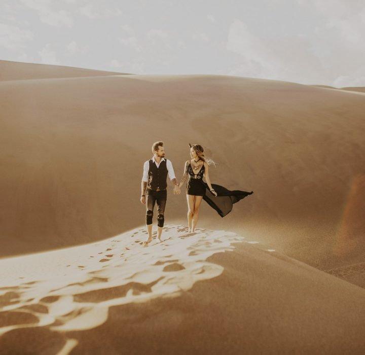 Boho Sand Dunes Couples Portraits