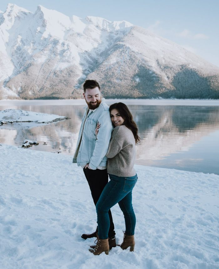 A Winter Engagement Session in Banff National Park