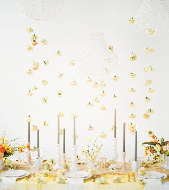 Classic and Romantic Yellow Wedding Inspiration