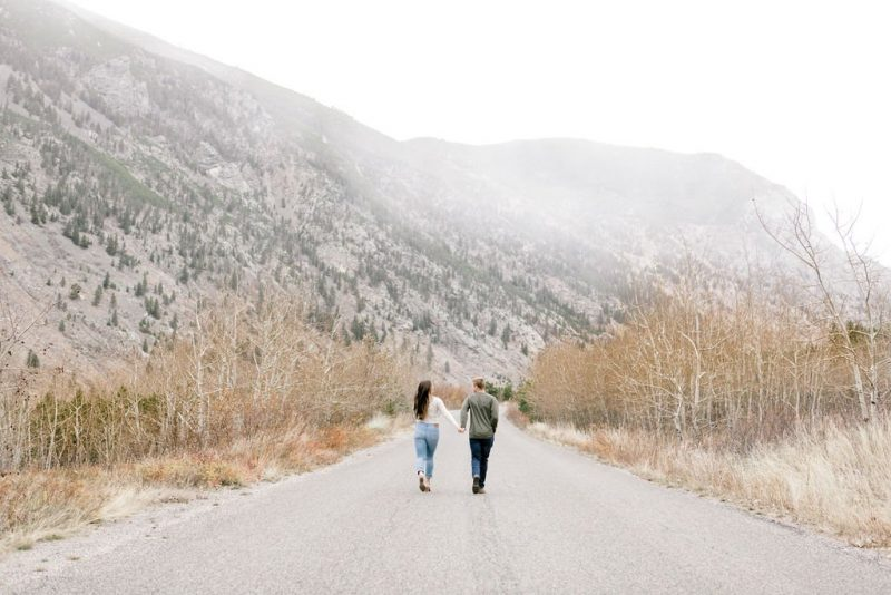Playful Montana Mountain Engagement Photos