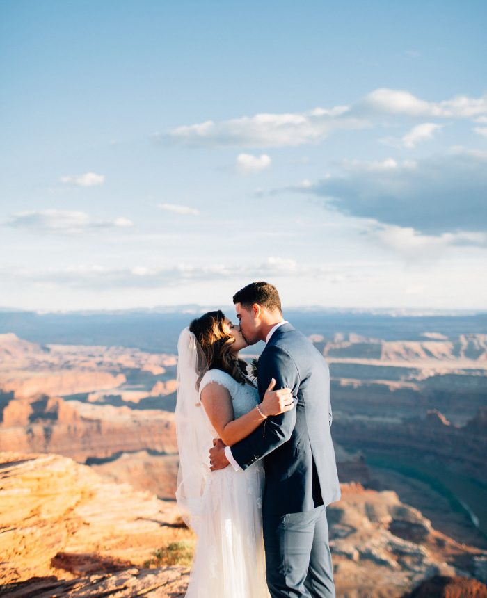 Simple and Romantic Dead Horse Point Bridals