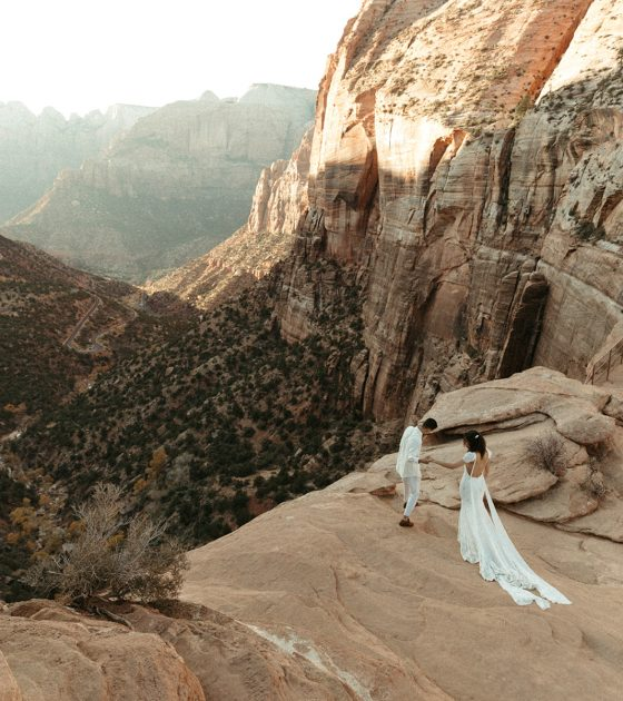 Warm and Passionate Zion National Park Elopement