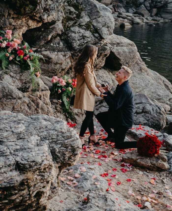Romantic Proposal by Lake Coeur d'Alene