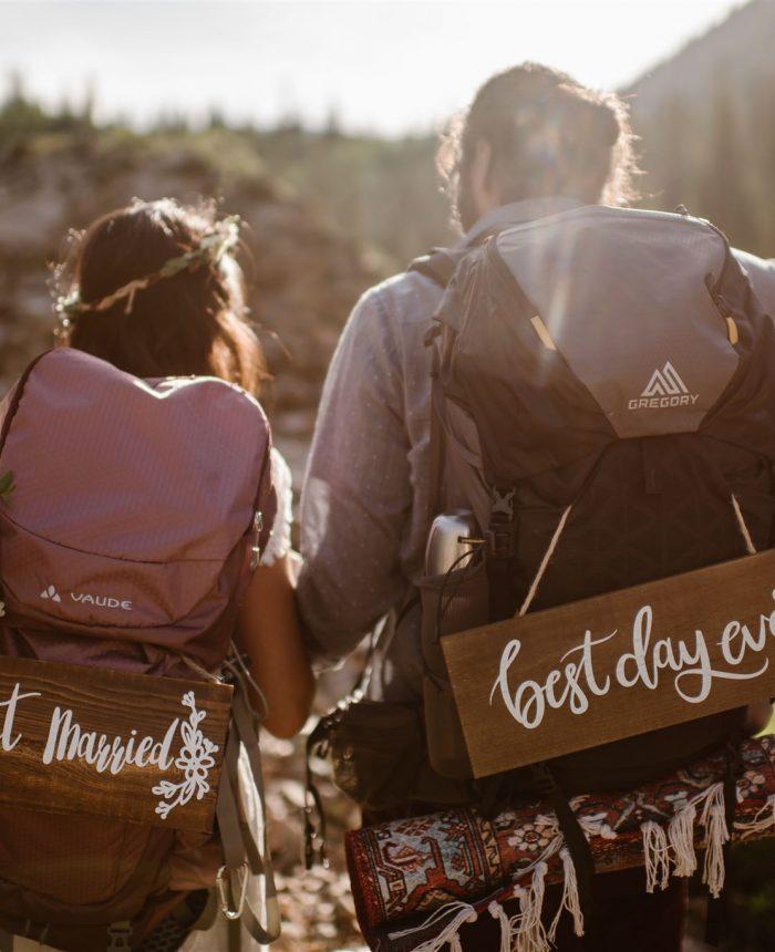 Sunrise Backpacking Maroon Bells Elopement