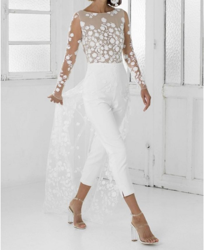 15 White Jumpsuits Perfect for Every Bride-to-Be