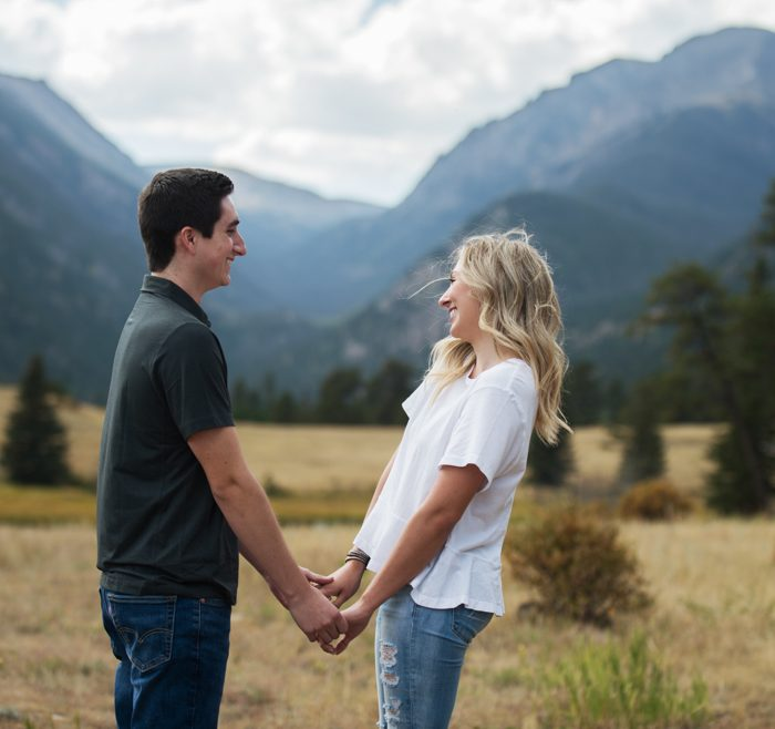 Casual Rocky Mountain National Park Engagement