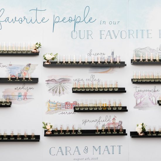 10 Escort Card and Seating Chart Displays to Inspire your Wedding Reception