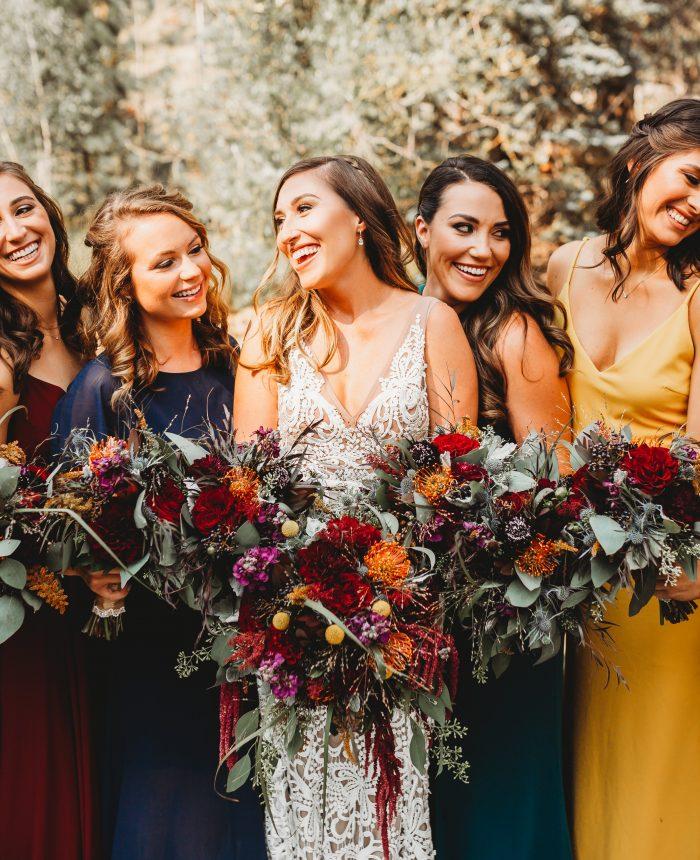 Jewel Tone Rocky Mountain National Park Wedding