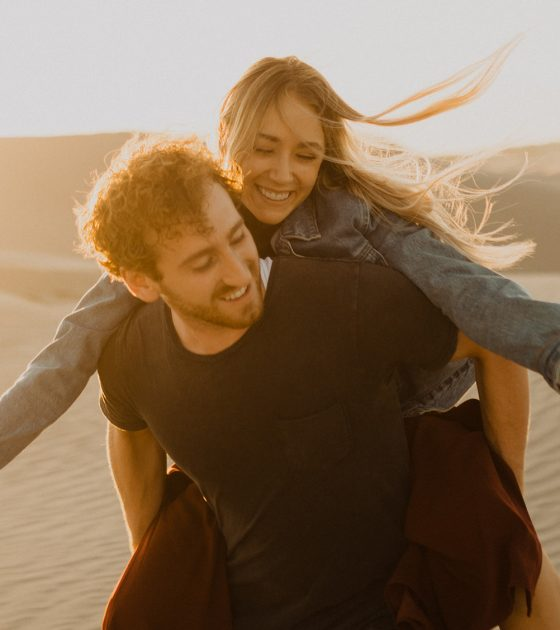 Lighthearted Sand Dunes Engagement