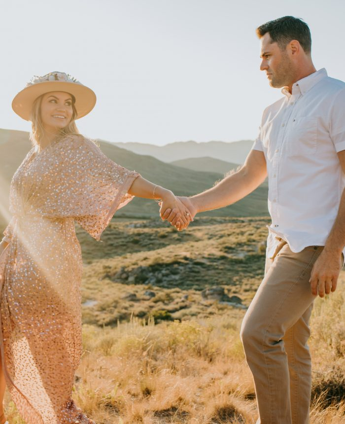 Romantic Sunset Boise Engagement