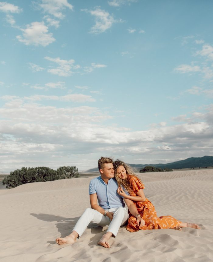 Spring Little Sahara Sand Dunes Engagement