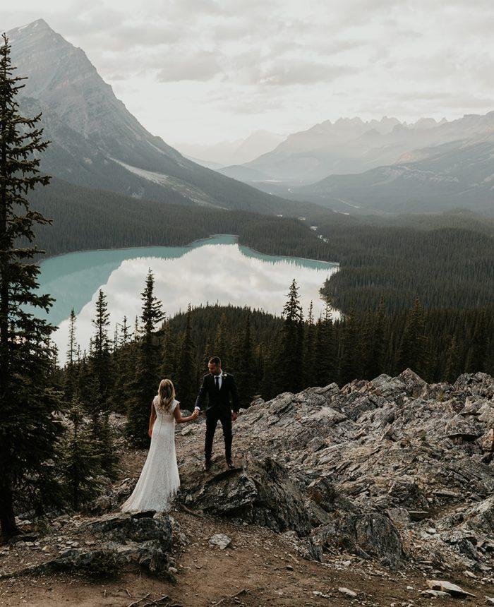 Breathtaking Bow Lake Elopement