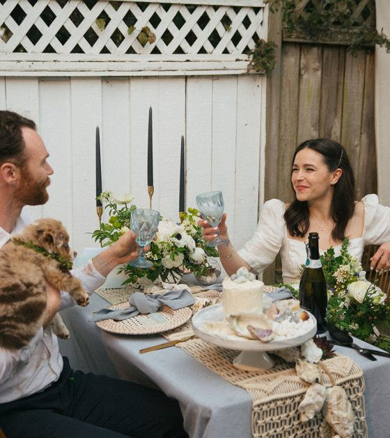 Backyard British Columbia Garden Party Elopement